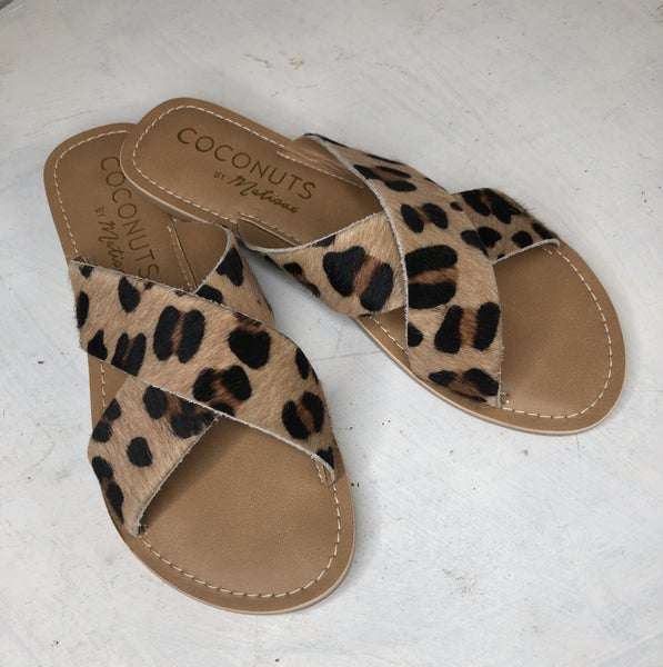 Coconut Pebble Leopard Flats *Final Sale*