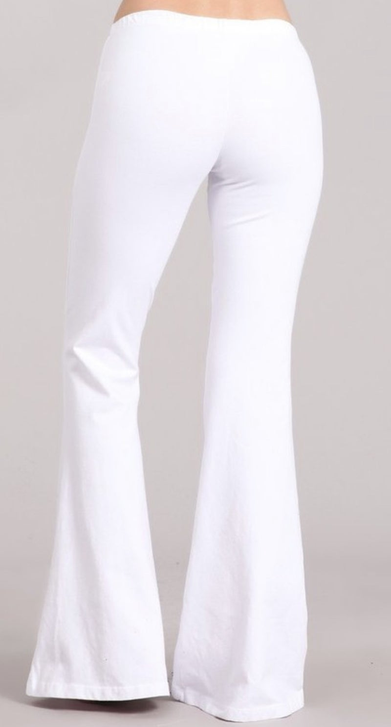 White Chatoyant Bell Bottoms *Final Sale*