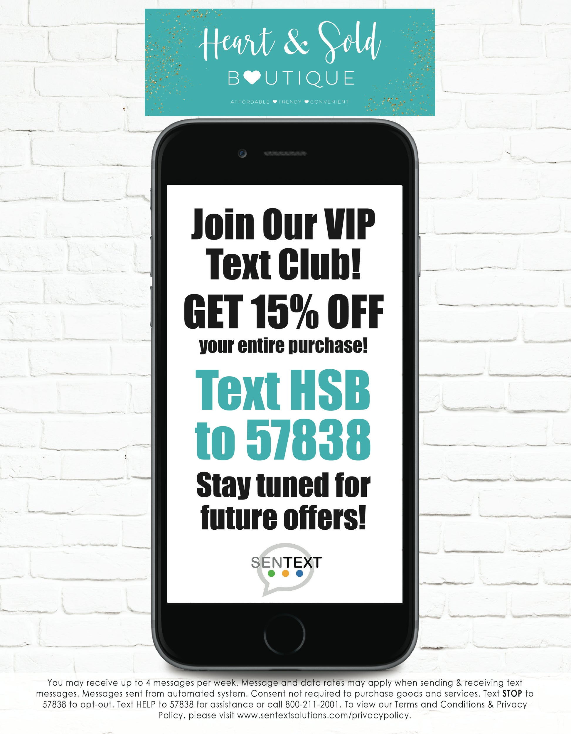 Text HSB to 57838 to get 15% OFF!