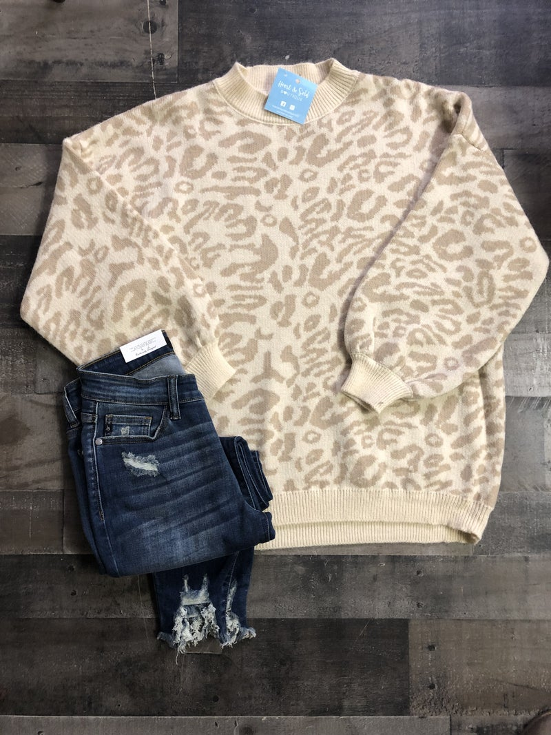 Adora Leopard Sweater *Final Sale*