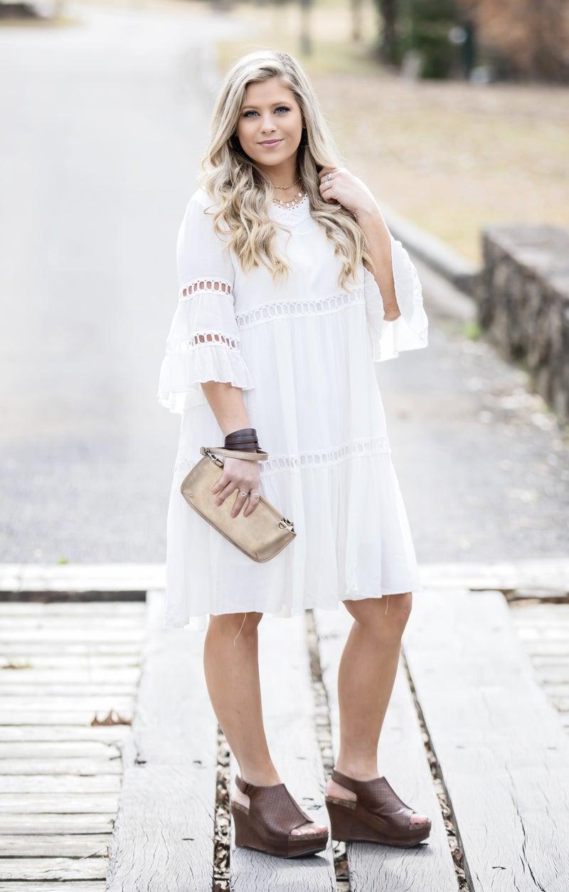 Listicle White Dress *Final Sale*