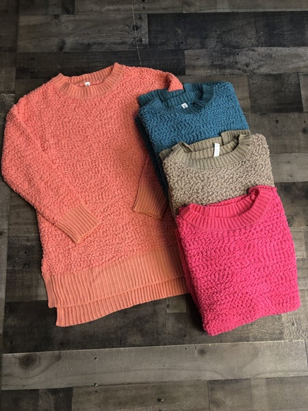 **NEW COLORS** Popcorn Pullover Sweaters