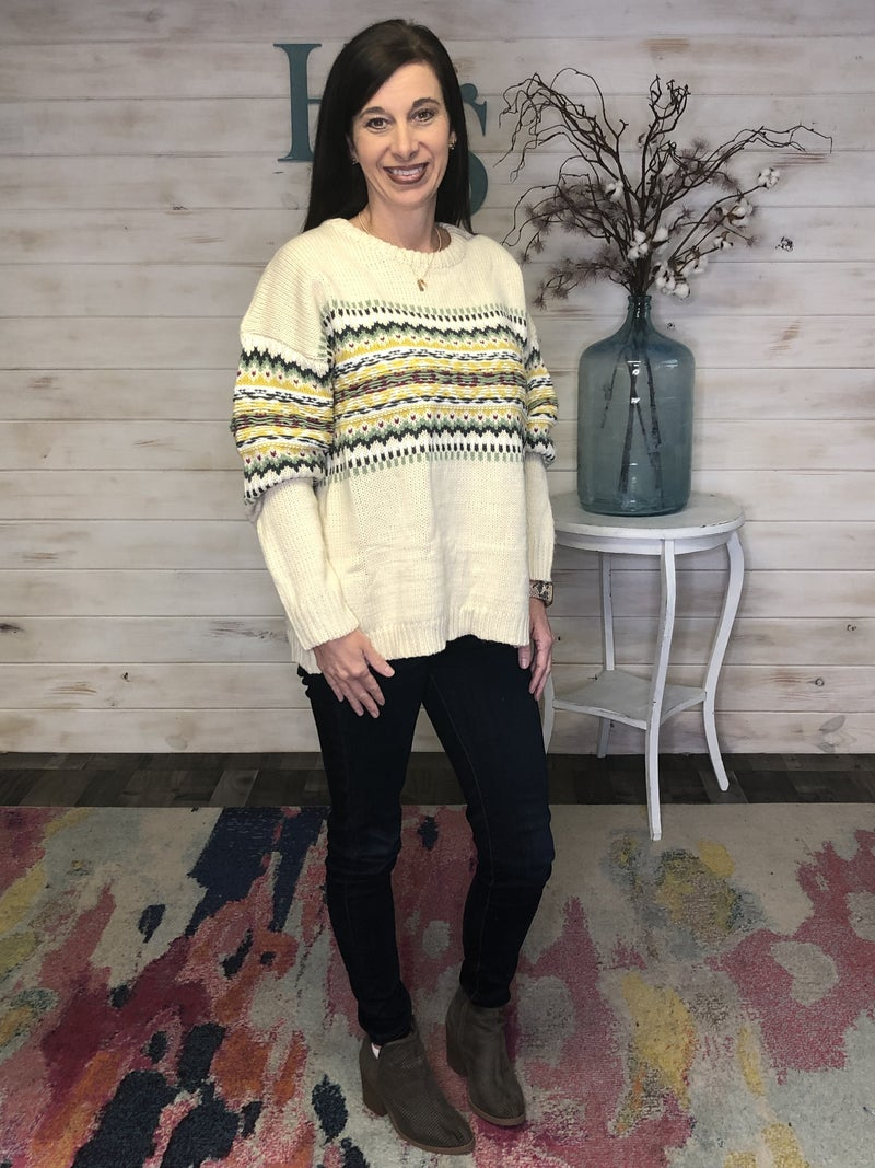 Easel Patterned Sweater *Final Sale*