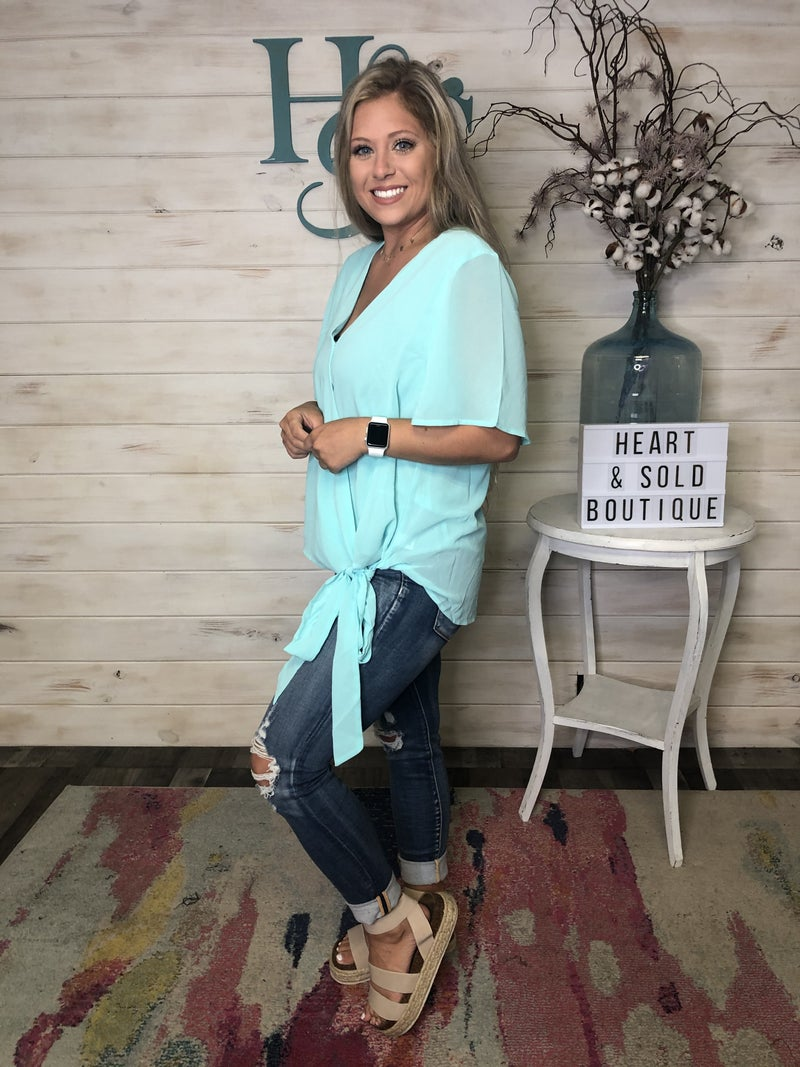 Gorgeous Top with Side Tie Detail