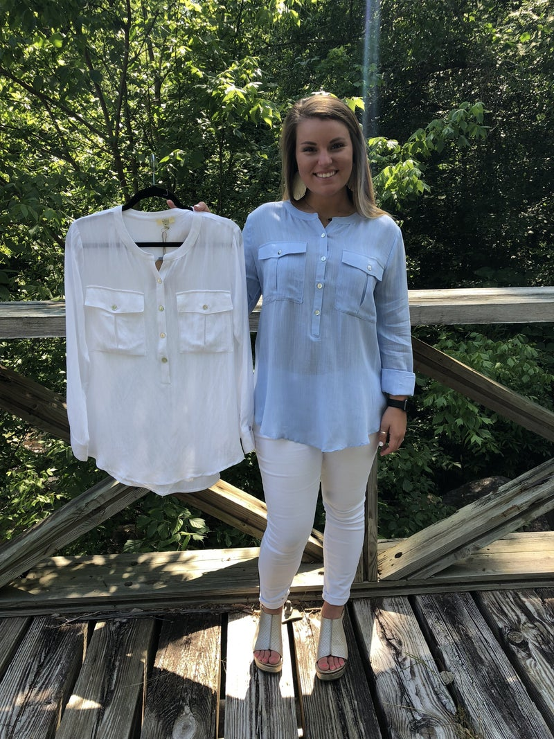 Long Sleeve Top with Pockets *Final Sale*