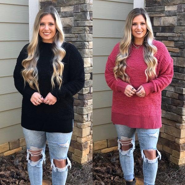 Pullover Popcorn Sweater