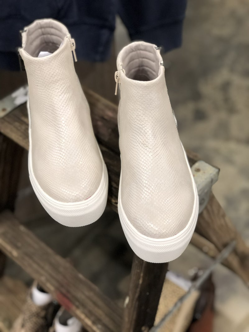 Coconuts by Matisse White Snake Sneaker