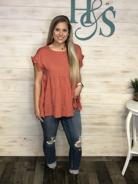 Jodifl Ginger Babydoll Style Top