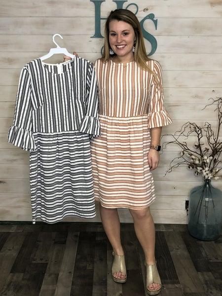 Striped Babydoll Dress *Final Sale*