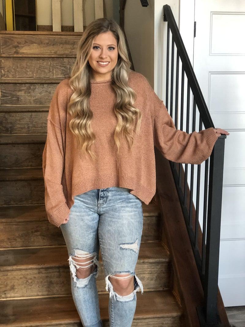 Adora Clay Boxy Pocket Sweater
