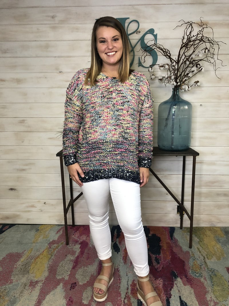 Easel Multi Color Sweater