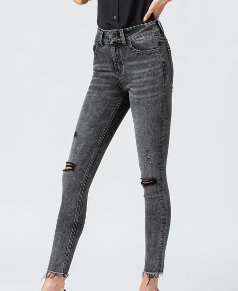 Offest High Rise Jeans