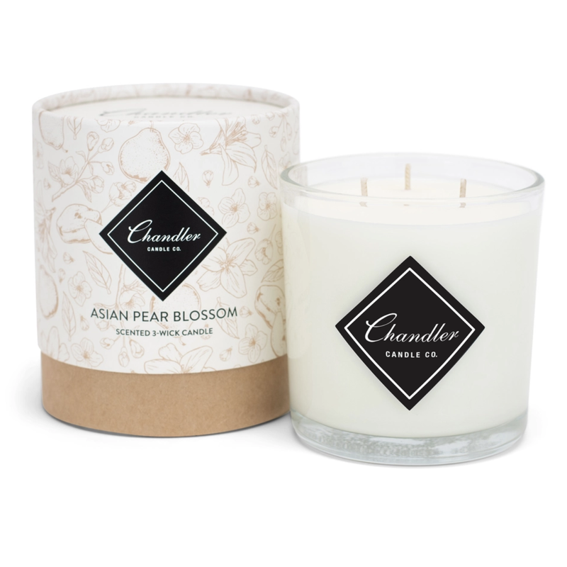 TAKEOVER- Chandler Candle Co Asian Pear Blossom 3-Wick Candle