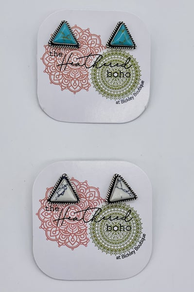 Marble Triangle Studs