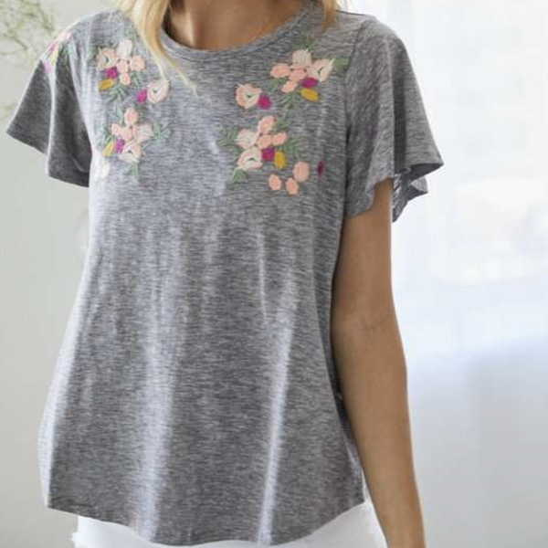 On The Fray Embroidered Top