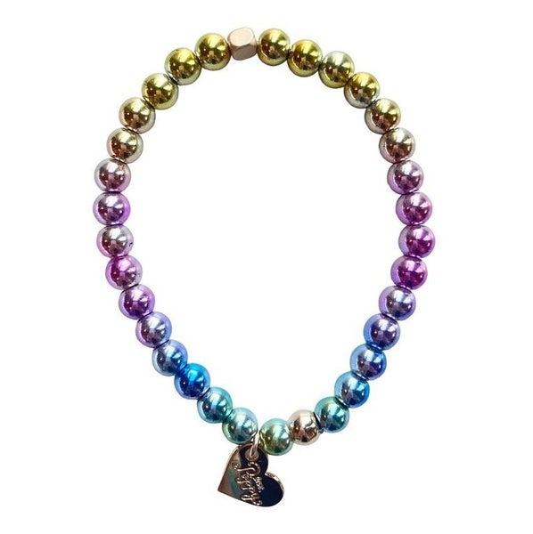 Rainbow Love Stretch Bracelet