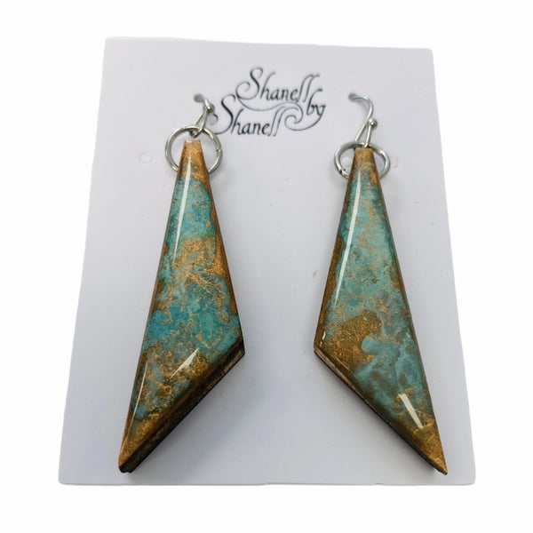 Copper Patina Triangles