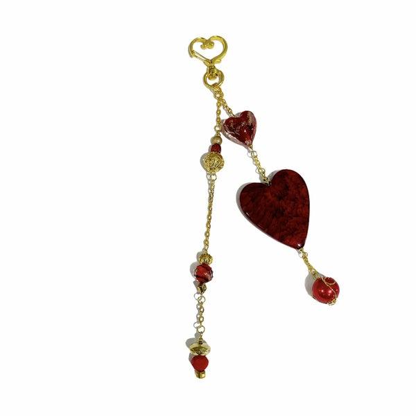 Glittering Heart Charm