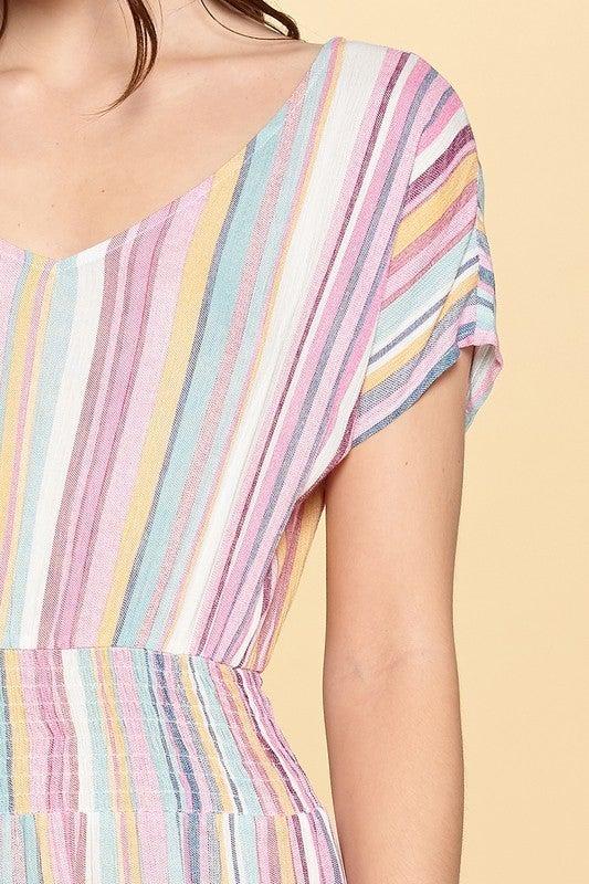 Retro Love Striped Dress