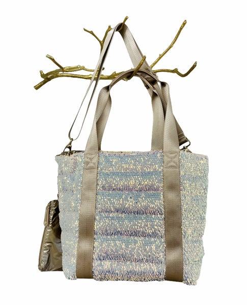 Rose Gold Sequin Tote Bag