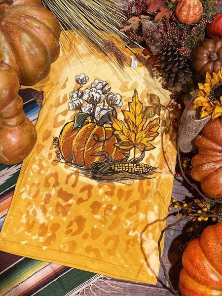 Hand Drawn Pumpkin Graphic Tee