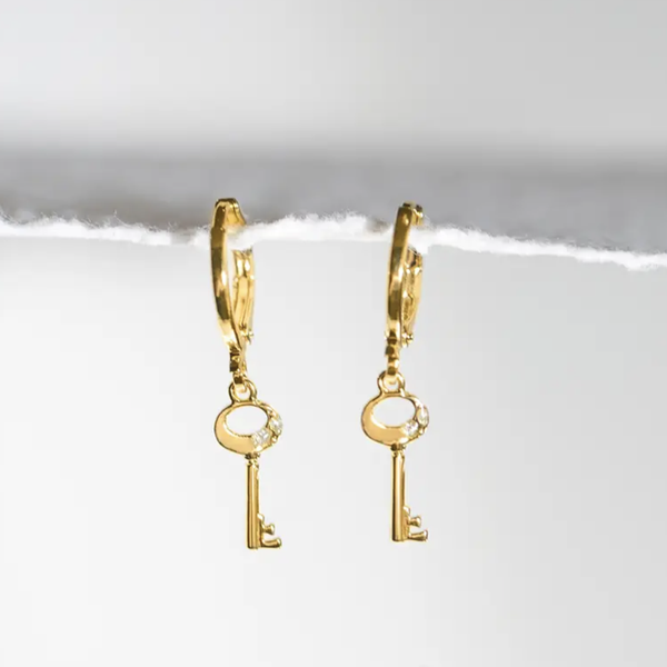 Mini Key Of F Earrings