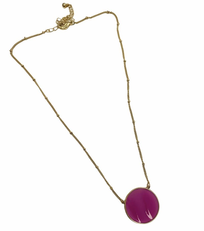 Really Raspberry Pendant Necklace