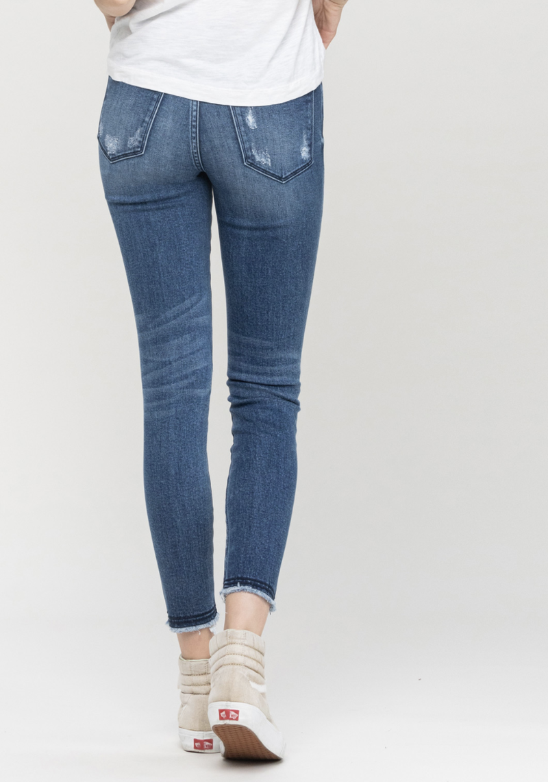TAKEOVER- Half Moon Cropped Skinny Jeans