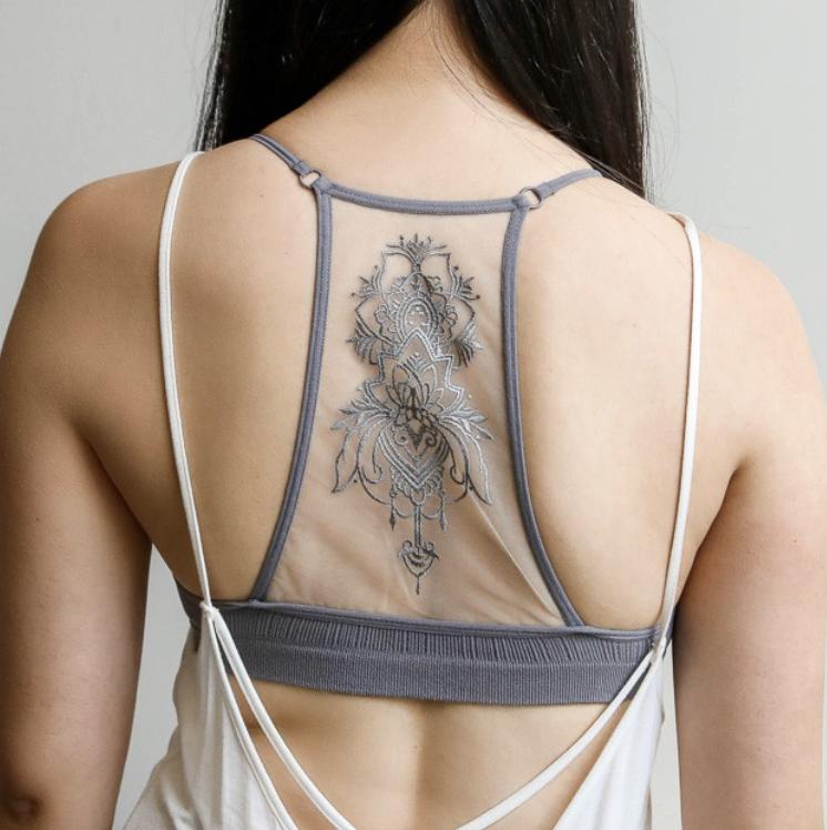 Tattoo Mesh Bralette