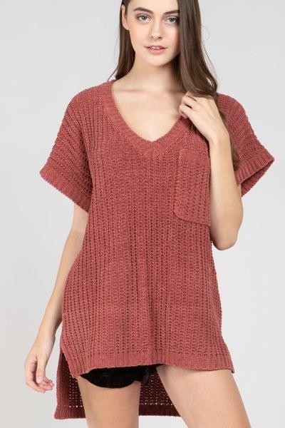Sweet Short Sleeve Sweater