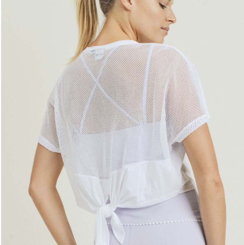 Airflow Mesh Back Crop Top