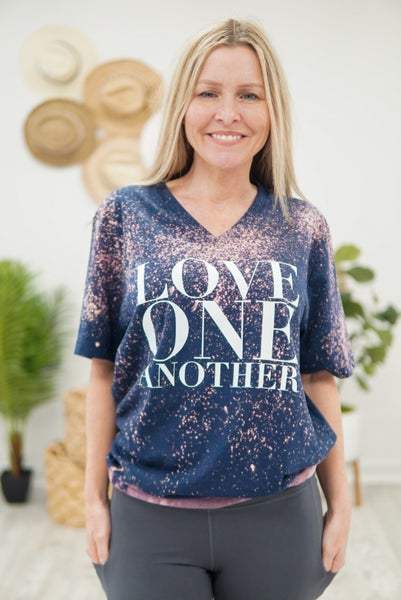 Love One Another Dipped Top