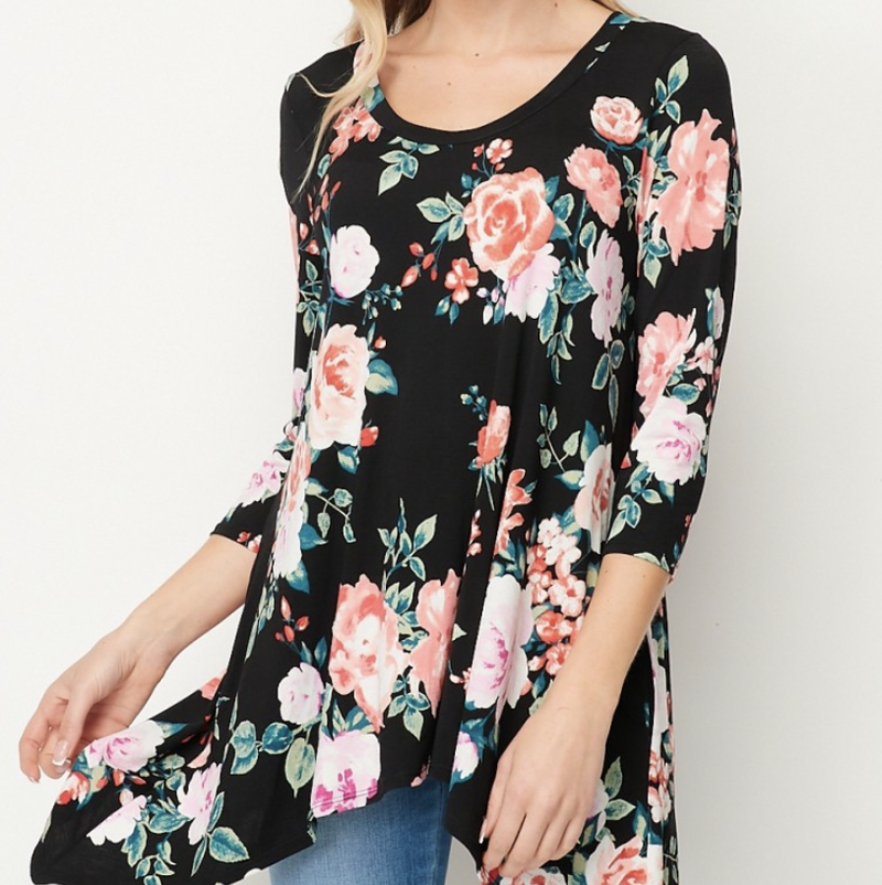 Florals And Flow Top