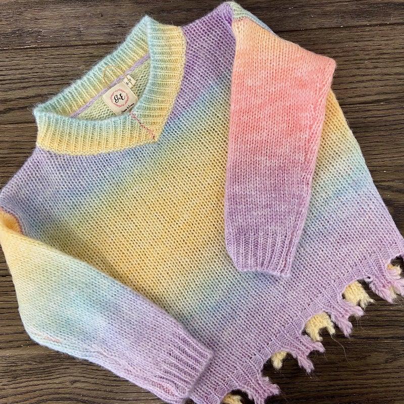 Sherbert Fringe Kid's Sweater