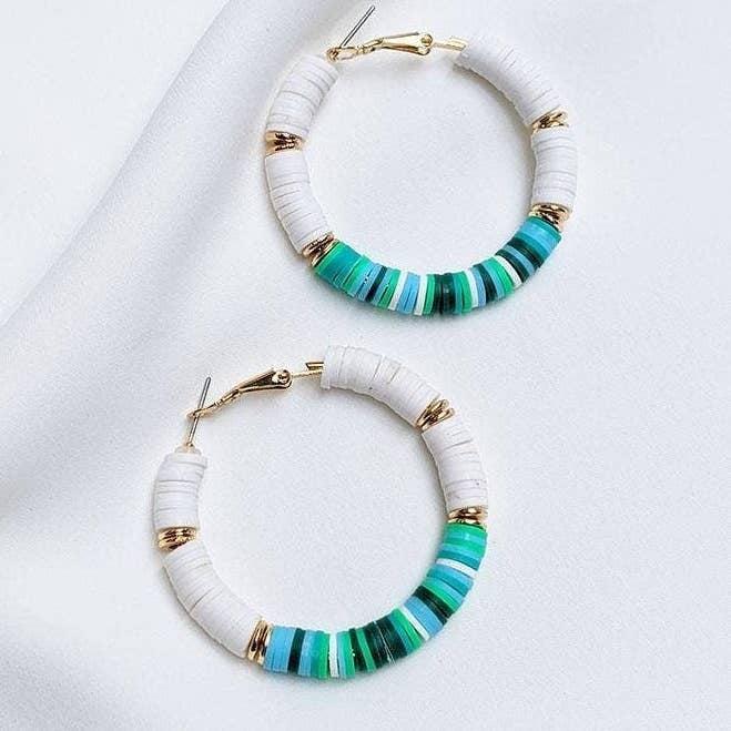 Teal Hoop Earrings