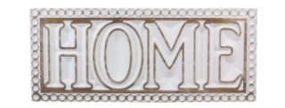 "Wood Carved ""Home"" Wall Sign"