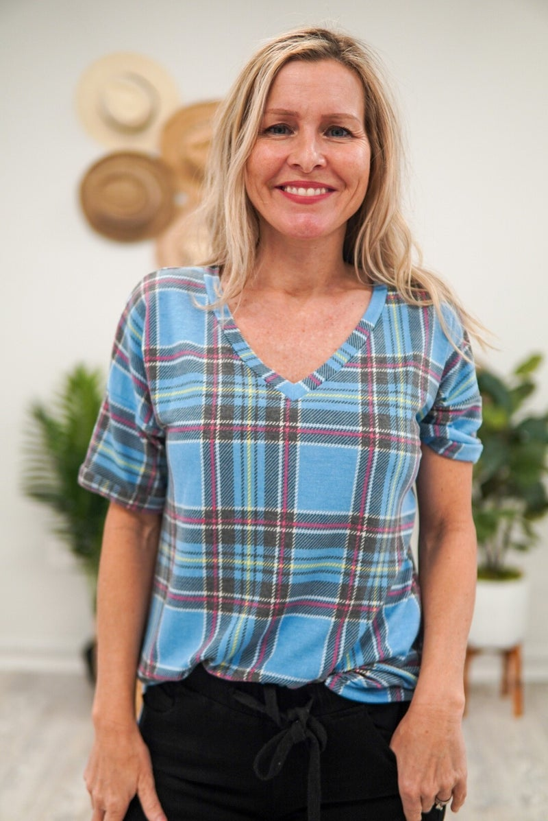 Ready To Rumble Plaid Top