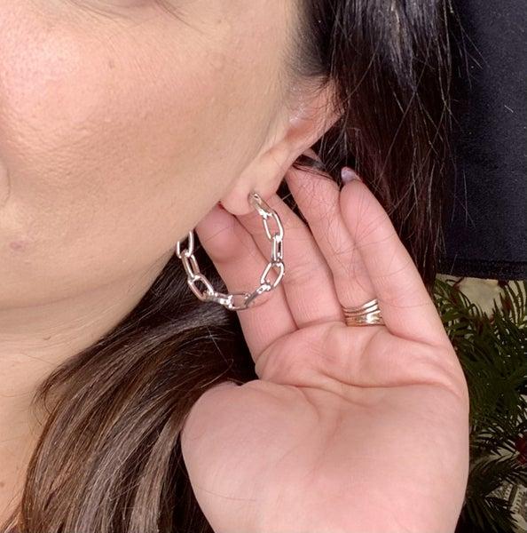 Silver Chain Earring