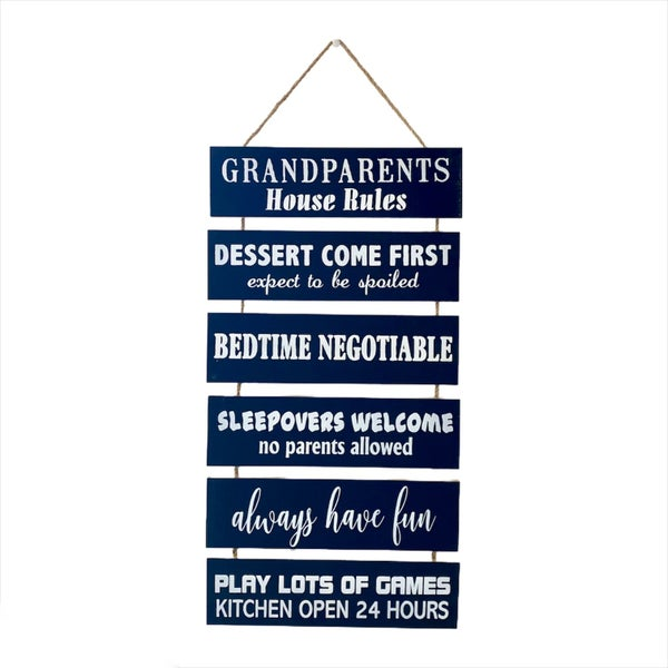 Grandparents Rules Sign