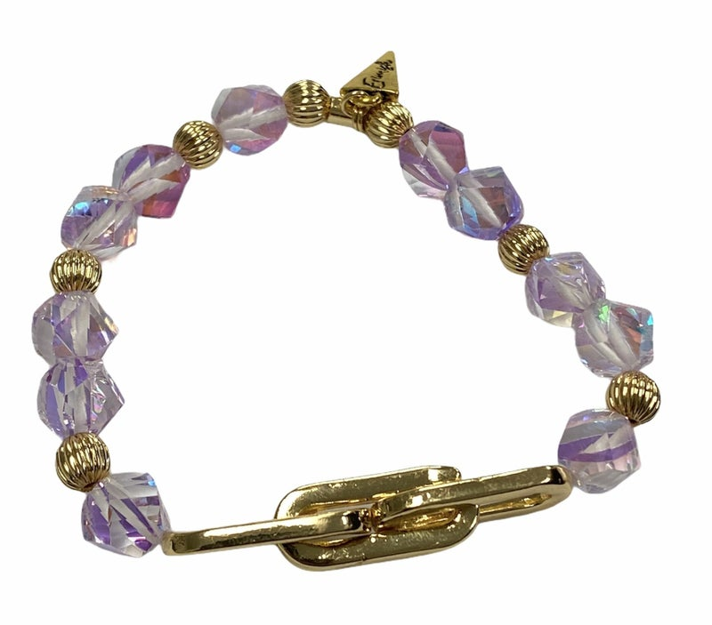 Lily's Purple Crystal Bracelet