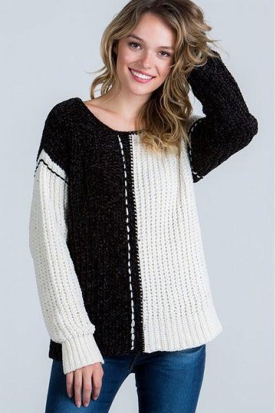 Two Tone & Pretty Sweater