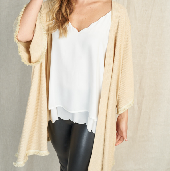 Touch Of Fringe Cardigan