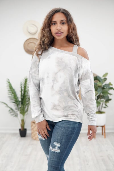 Stormy Days Cold Shoulder Top