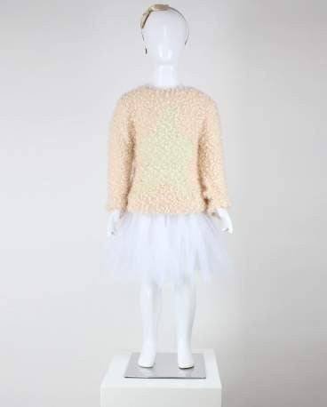 Girls' Star Popcorn Sweater
