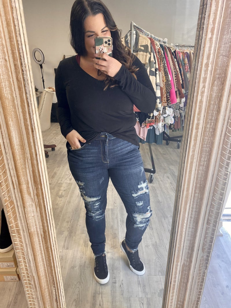 Judy Blue Rough And Tumble Jeans