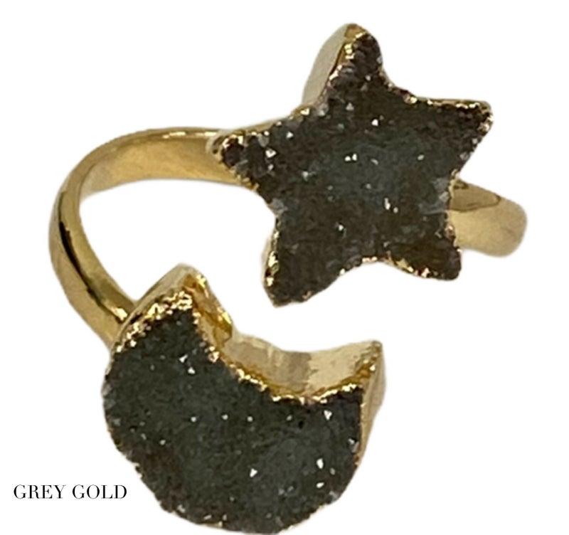 Celestial Double Druzy Ring