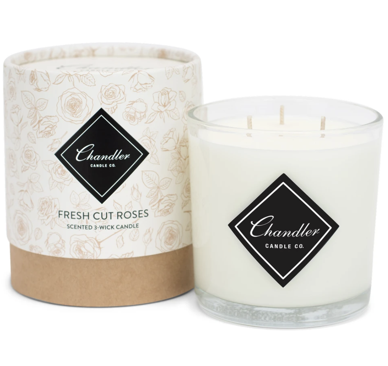 Chandler Co. Fresh Cut Roses 3-Wick Candle