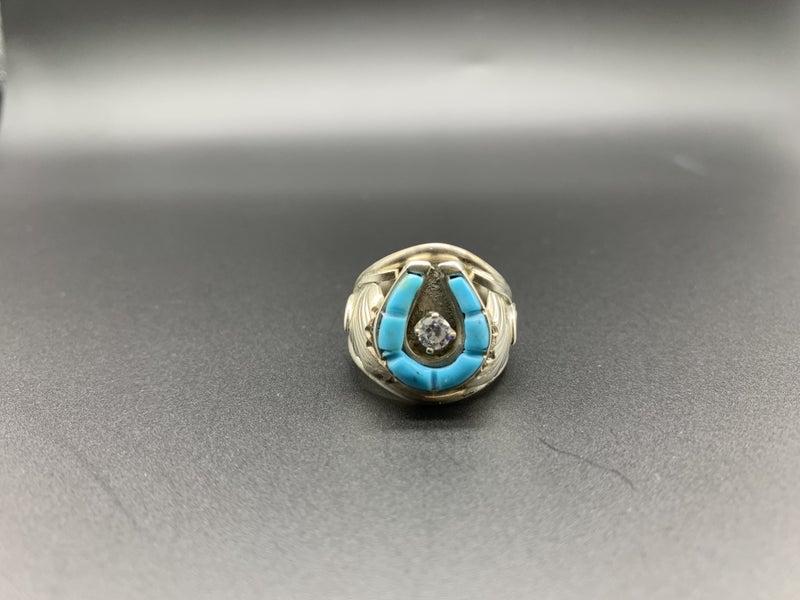 M&S Icy Horseshoe Ring