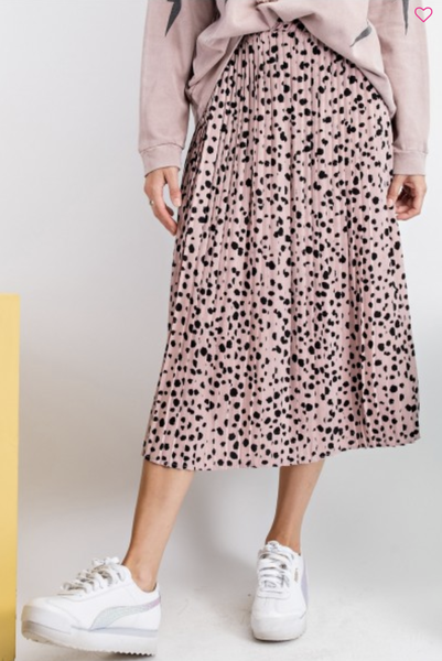 Sing And Dance Pleated Midi Skirt
