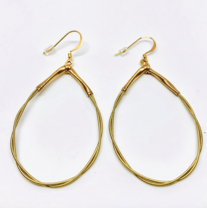 Twisted Teardrop Earrings